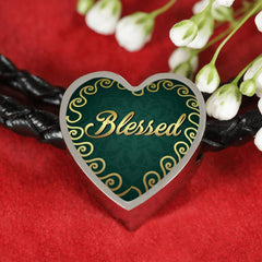 Blessed Heart Style Leather Bracelet