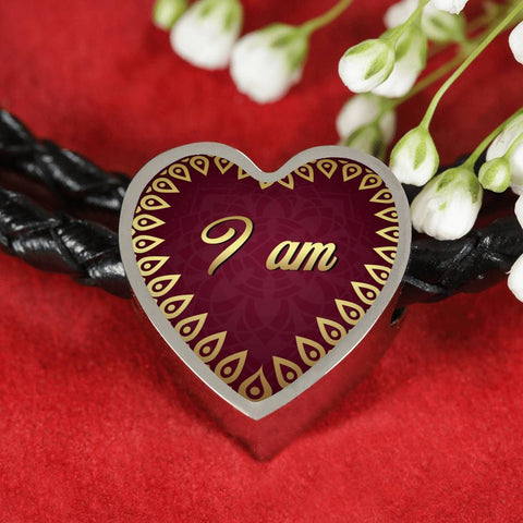 I Am Heart Style Leather Bracelet - Lyghtt
