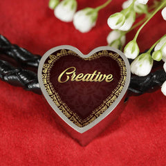 Creative Heart Style Leather Bracelet
