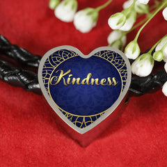 Kindness Heart Style Leather Bracelet