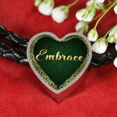 Embrace Heart Style Leather Bracelet