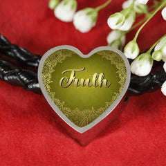 Truth Heart Style Leather Bracelet
