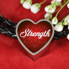 Image of strength heart style leather bracelet - omfinite
