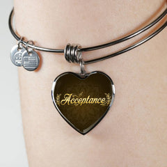 Acceptance Heart Style Bangle Bracelet