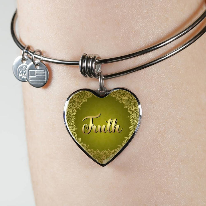 truth heart style bangle omfinite