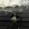 Image of Golden Lotus Flower Heart Bangle Bracelet - Lyghtt
