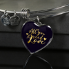 Image of All You Need Is Love Heart Bangle Bracelet - Lyghtt