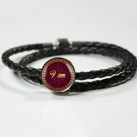 I Am Circle Style Leather Bracelet - Lyghtt