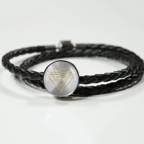 Magic of Psalm Symbol Round Leather Bracelet