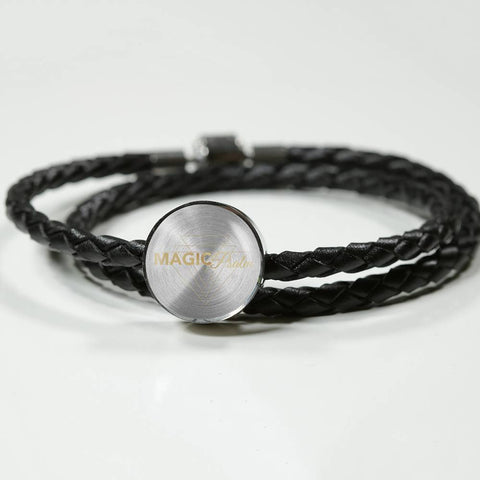 Magic of Psalm Logo Round Leather Bracelet