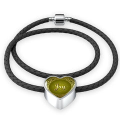 Joy heart style leather bracelet - Lyghtt