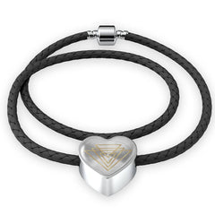 Magic of Psalm Symbol Heart Leather Bracelet