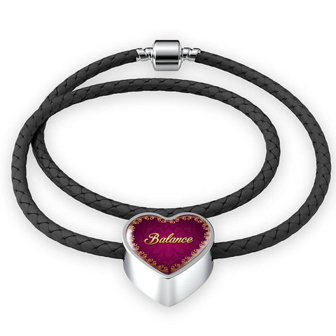 Balance Heart Style Leather Bracelet - Lyghtt