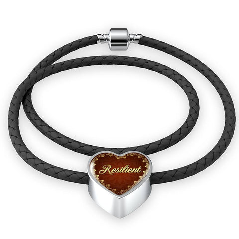 Resilient Heart Style Leather Bracelet