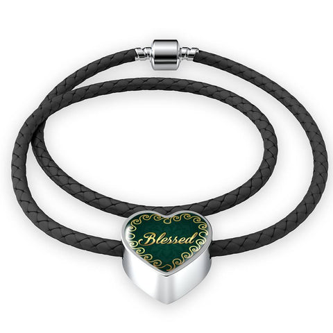 Blessed Heart Style Leather Bracelet - Lyghtt
