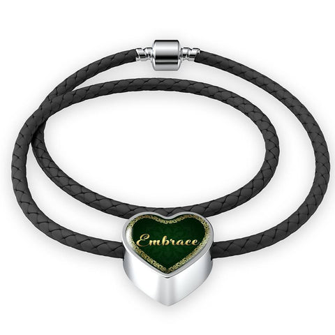 Embrace Heart Style Leather Bracelet - Lyghtt