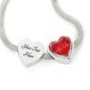 Image of Red Love Heart Beat Heart Design Charm Bracelet - Lyghtt