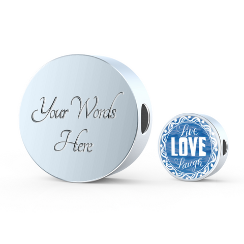 Live Love Laugh Blue Ocean Lovers Charm Bracelet - Lyghtt
