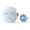 Image of Live Love Laugh Blue Ocean Lovers Charm Bracelet - Lyghtt