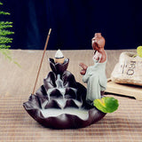 Home Decor Handmade Ceramic Beautiful Lady Painting Backflow Incense Burner. Great Gift idea. - Lyghtt