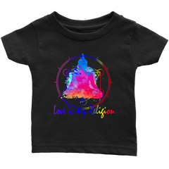Love Is My Religion Buddha For Kids & Babies