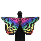 Butterfly Shape Shawl Beach Towel Polyester Personality Fashion Colorful Tapestry