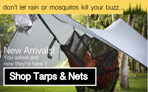 Hammock Accessories | rain tarps and mosquito nets