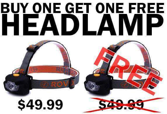 buy one headlamp get one free