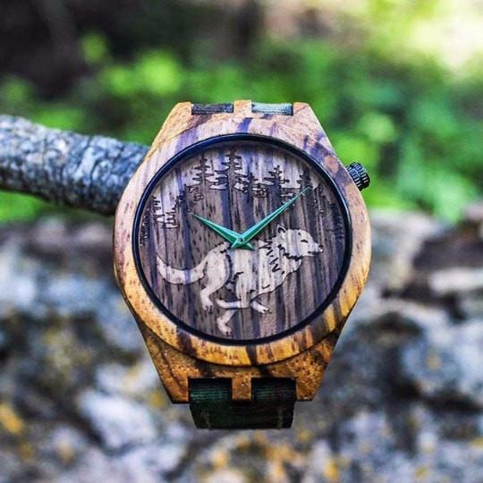 Apache Pine Wooden Watches The Wild - Zebrawood Wooden Watch madera outdoor hammock companies that plant trees best camping hammocks cheap camping hammocks cheap hammocks cheap backpacking hammocks
