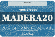 Madera Outdoor add on 100 / Generic Custom 20% off Cards