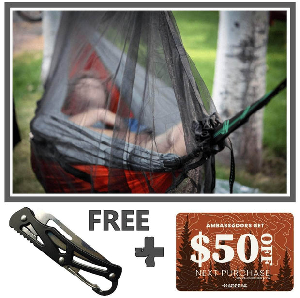 Madera Outdoor Bug Net Ambassador Only Offer: Bug Net + Pillow + $50 Gift Card madera outdoor hammock companies that plant trees best camping hammocks cheap camping hammocks cheap hammocks cheap backpacking hammocks