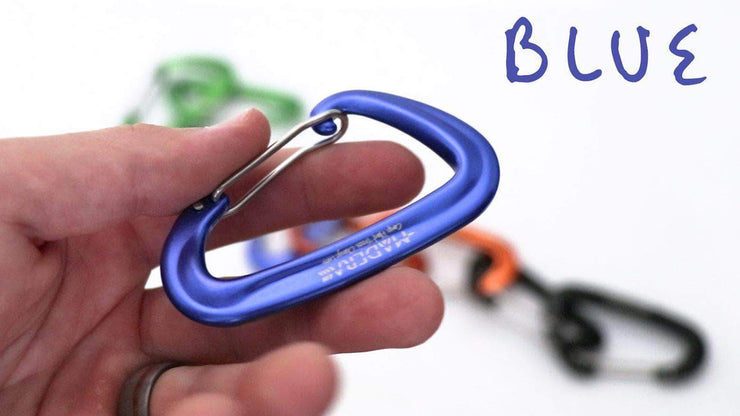 Madera Outdoor Carabiner Blue Carabiner - Hammock/Backpack/Adventure Upgrades madera outdoor hammock companies that plant trees best camping hammocks cheap camping hammocks cheap hammocks cheap backpacking hammocks
