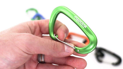 Madera Outdoor Carabiner Green Carabiner - Hammock/Backpack/Adventure Upgrades madera outdoor hammock companies that plant trees best camping hammocks cheap camping hammocks cheap hammocks cheap backpacking hammocks