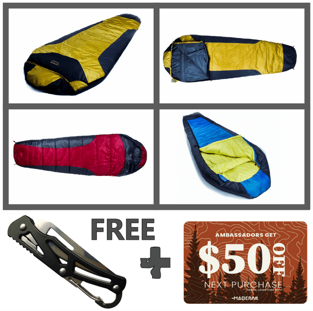 Madera Outdoor Funnel Builder Products Ambassador Only Offer: Sleeping Bag + Pillow + $50 Gift Card madera outdoor hammock companies that plant trees best camping hammocks cheap camping hammocks cheap hammocks cheap backpacking hammocks