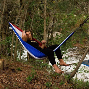 Madera Outdoor Funnel Builder Products Patriot $44.99 Hammock with Heavy Duty Straps madera outdoor hammock companies that plant trees best camping hammocks cheap camping hammocks cheap hammocks cheap backpacking hammocks