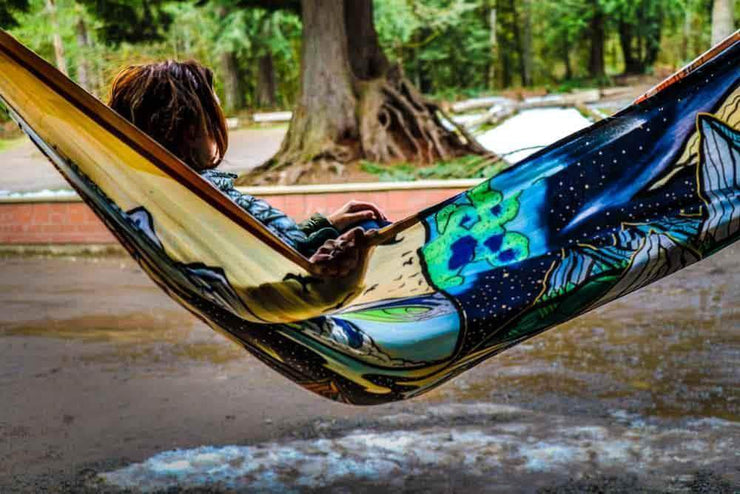 Madera Outdoor Hammock Photosynthesis | Benchetler + Walker Series Pre-Order