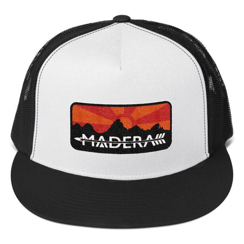Madera Outdoor  Hats Black/ White/ Black Patch Trucker Cap madera outdoor hammock companies that plant trees best camping hammocks cheap camping hammocks cheap hammocks cheap backpacking hammocks