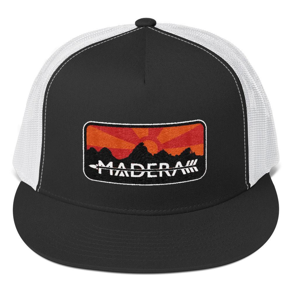 Madera Outdoor  Hats Black/ White Patch Trucker Cap madera outdoor hammock companies that plant trees best camping hammocks cheap camping hammocks cheap hammocks cheap backpacking hammocks