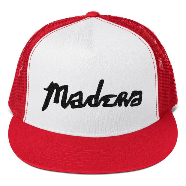 Madera Outdoor  Hats Red/ White/ Red Madera Hand Trucker Cap madera outdoor hammock companies that plant trees best camping hammocks cheap camping hammocks cheap hammocks cheap backpacking hammocks