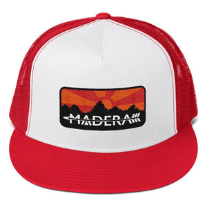 Madera Outdoor  Hats Red/ White/ Red Patch Trucker Cap madera outdoor hammock companies that plant trees best camping hammocks cheap camping hammocks cheap hammocks cheap backpacking hammocks