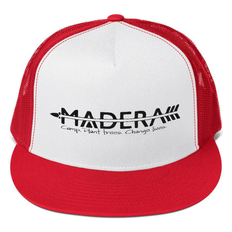 Madera Outdoor  Hats Red/ White/ Red Trucker Cap madera outdoor hammock companies that plant trees best camping hammocks cheap camping hammocks cheap hammocks cheap backpacking hammocks