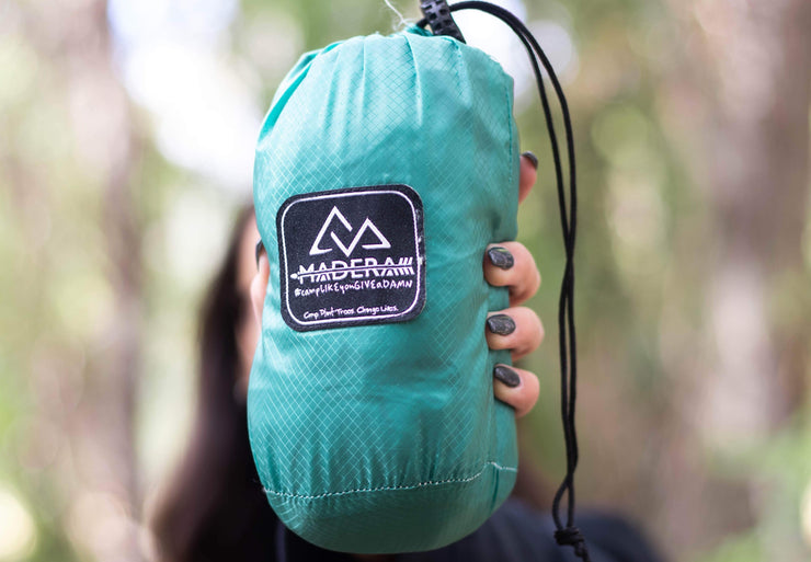 Madera Outdoor Non Discountable Promo Conifer 60% off Ultralight Pocket Hammocks madera outdoor hammock companies that plant trees best camping hammocks cheap camping hammocks cheap hammocks cheap backpacking hammocks
