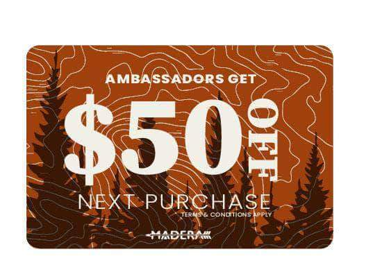 Madera Outdoor Pad Ambassador Only Offer: Backpacking Sleeping Pad + Pillow + $50 Gift Card
