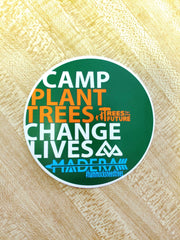 Madera Outdoor Stickers circular #Hammocksneedtrees stickers