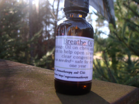Breathe Better- Massage Oil to open airways/relieve congestion  Sage's Aromatherapy