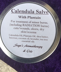 Calendula Salve with Plantain/ minor burns/ chemo burns/ cuts/wounds/eczema/ ulcers / skin issues