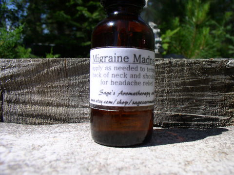 Migraine Madness- essential oil blend, 1oz bottle