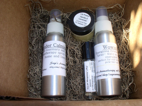 Woman-on-the-Go Gift Box~aromatherapy, body products, body care