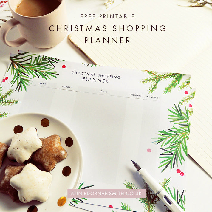 Free Printable - Christmas Shopping Planner | Annie Dornan Smith Illustrated Home and Paper Goods UK | anniedornansmith.co.uk