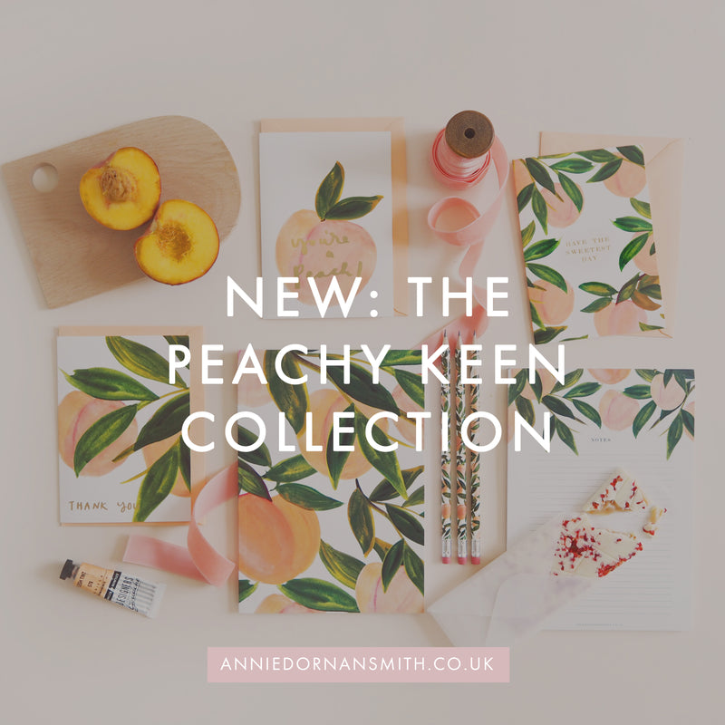 NEW: The Peachy Keen Collection | Annie Dornan Smith Prints and Paper Goods UK